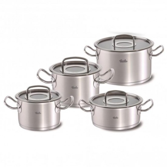 Fissler Profi 4 piece set with Casserole 20 cm Glass lids
